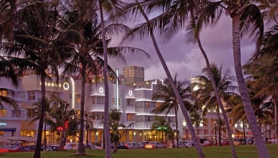Art Deco-Architektur am Ocean Drive in Miami Beach © Christian Heeb